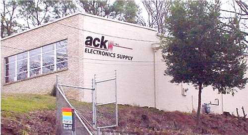 Ack Atlanta is located 1 block south of Northside drive, on the right.